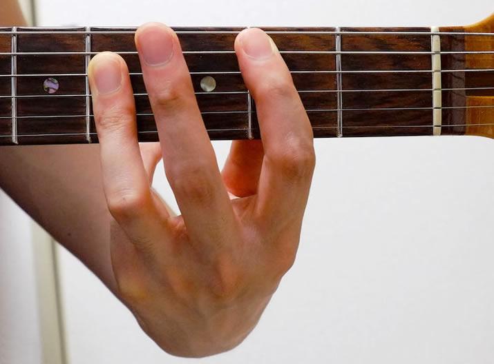 指の広げ方:B