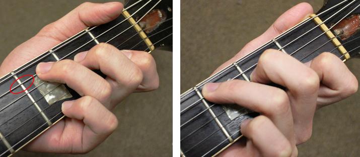 演奏者の指の位置
