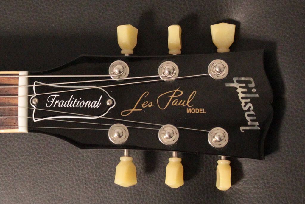 Gibson Les Paul Traditional 2012 のヘッド部分