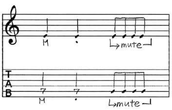 ミュートTab譜