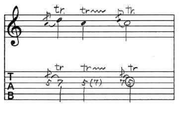 トリルTab譜