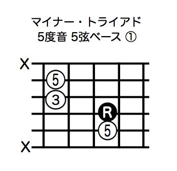 マイナー・トライアド5度音5弦ベース-1